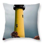 The Yellow Lighthouse Throw Pillow