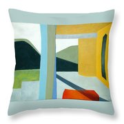 The Yellow Porch Throw Pillow
