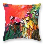 The Yellow River Of The Tour De France Throw Pillow
