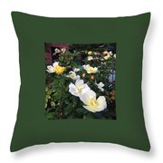 The Yellow Roses Of Fulton Street Throw Pillow