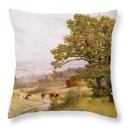 The Young Artist Throw Pillow by Henry Key