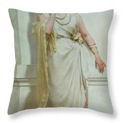 The Young Bride Throw Pillow by Alcide Theophile Robaudi