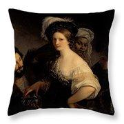 The Young Courtesan Throw Pillow