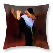 The Young Fighter Throw Pillow