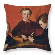 The Young Microscopists Throw Pillow