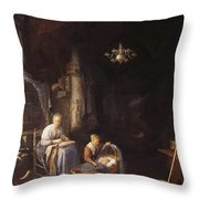 The Young Mother 1658 Throw Pillow