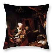 The Young Mother 1660 Throw Pillow