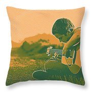 The Young Musician 2 Throw Pillow