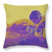The Young Musician 3 Throw Pillow