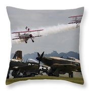 The Youngsters And Oldies Throw Pillow