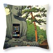 The Zen Of Iphone Throw Pillow