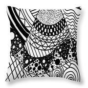The Zendoodle Desert Throw Pillow