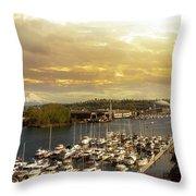 Thea Foss Waterway In Tacoma Washington Throw Pillow