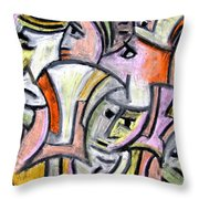 Theater Actors By Rafi Talby Throw Pillow