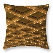 Theater Ceiling Marquee Lights Throw Pillow