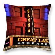 Theater District Close Up Throw Pillow