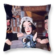 Theater: Puppet Characters Throw Pillow