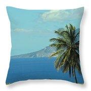Thecaribbean  Island Of St Eustatius Throw Pillow