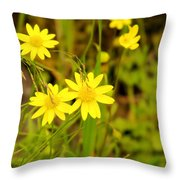 Thee Yellow Smiles  Throw Pillow