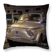 The Fiat 500 Throw Pillow