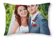 Their Wedding Day Throw Pillow