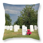 Their Wives Are With Them In Arlington Throw Pillow