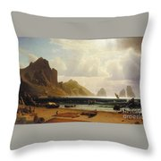 The_marina_piccola_capri Throw Pillow