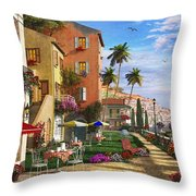 Themed Terrace Throw Pillow