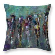 Then Came Seven Horses Throw Pillow