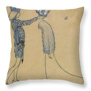 Then Put The Prince A Crown Of Gold On Her Head Throw Pillow