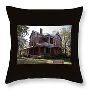 Booker T Washington Home Throw Pillow