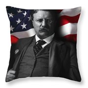 Theodore Roosevelt 26th President Of The United States Throw Pillow