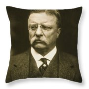 Theodore Roosevelt Throw Pillow by Artistic Panda