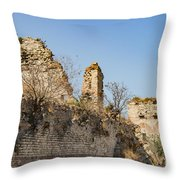 Theodosian Walls - View 10 Throw Pillow