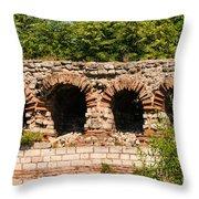 Theodosian Walls - View 13 Throw Pillow