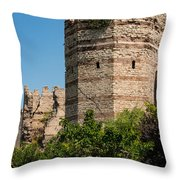 Theodosian Walls - View 3 Throw Pillow