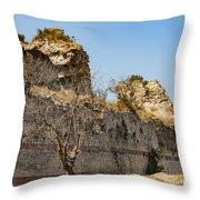Theodosian Walls - View 7 Throw Pillow
