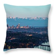 The_olympics_over_seattle Throw Pillow