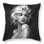 Theo's Marilyn Ww Bw Throw Pillow