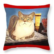 Therapy Cat Throw Pillow