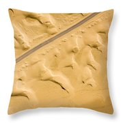 There Are Good Paved Roads Heading Throw Pillow