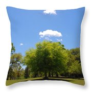 There Are Some Clouds Throw Pillow