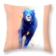 There Are Wild Dogs Living In The Mountains  Throw Pillow