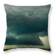 There Be A Nebraska Storm A Brewin 013 Throw Pillow