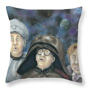 There Goes The Planet Throw Pillow