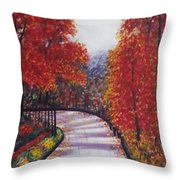 There Is Always A Bright Road Ahead Throw Pillow