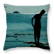 There Is Always A Watcher  Throw Pillow