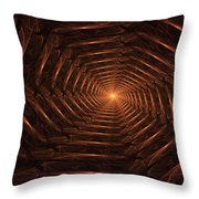There Is Light At The End Of The Tunnel Throw Pillow