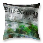 There Is No News Fit To Print Throw Pillow