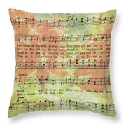 There Shall Be Showers Of Blessing Throw Pillow